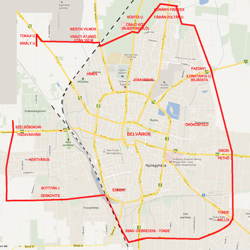 Kemencés Pizzéria Nyíregyháza kiszállítási terület